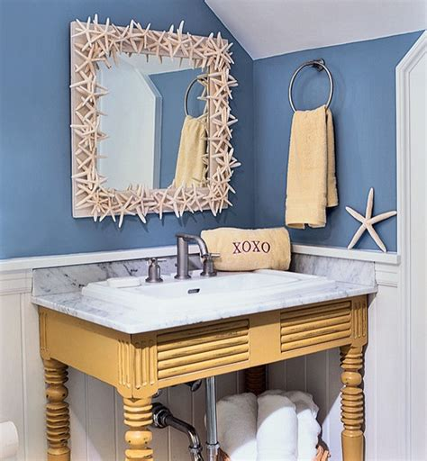 beach bathroom decor ideas beach themed interiors home christmas decoration