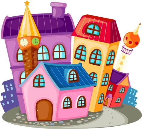 cartoon house pictures colorful cartoon houses picfish