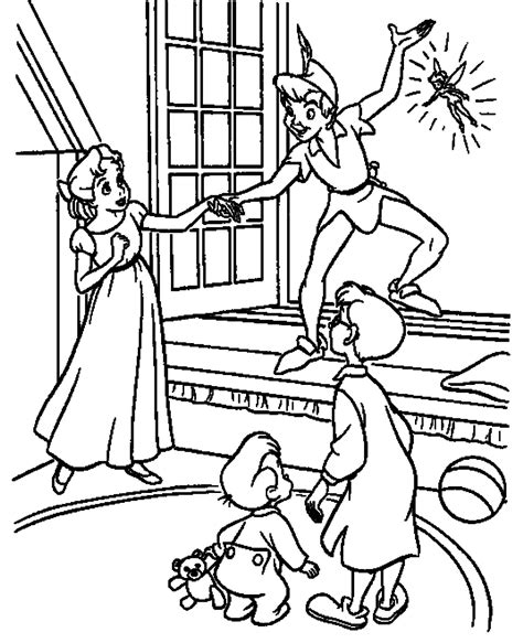 peter pan flying coloring pages coloring home
