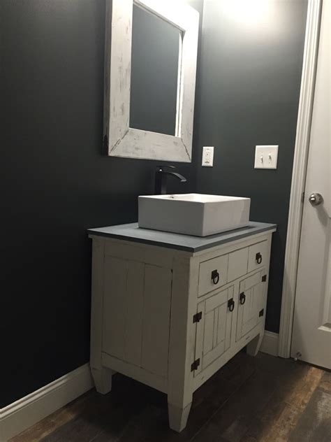 ana white farmhouse bathroom vanity featuring andrew