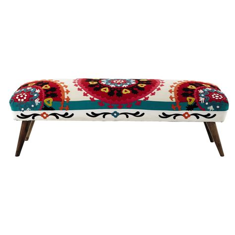 mobile fondoletto mobile fondoletto multicolore ricamato in cotone l 119 cm