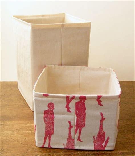 pattern for fabric boxes pretty fabric bin organization