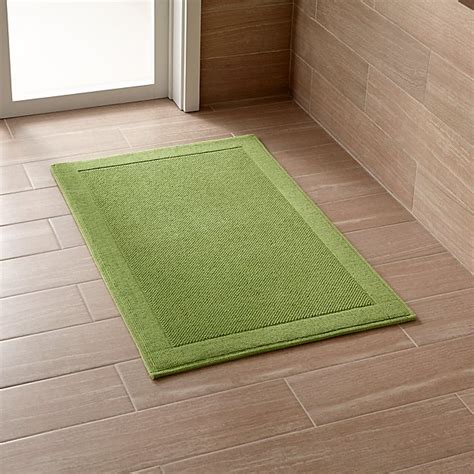 green bathroom rugs westport green bath rug crate and barrel
