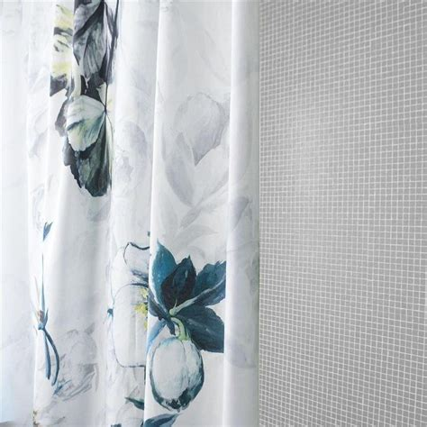 White And Gray Shower Curtain by Threshold Grey And White Floral Shower Curtain