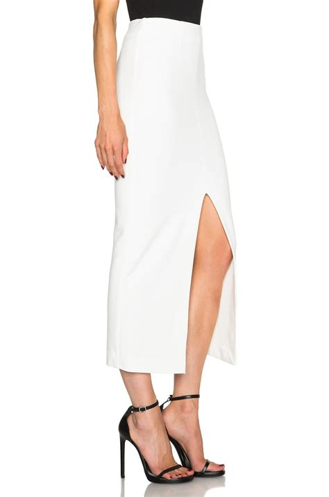 nicholas ponti split maxi pencil skirt in white lyst