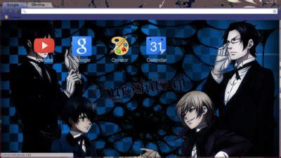 google theme kuroshitsuji kuroshitsuji chrome themes themebeta