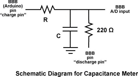 capacitor circuit tutorial arduino capacitancemeter