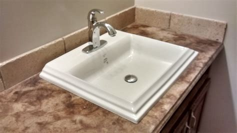 overmount bathroom sink how to install an overmount bathroom sink youtube