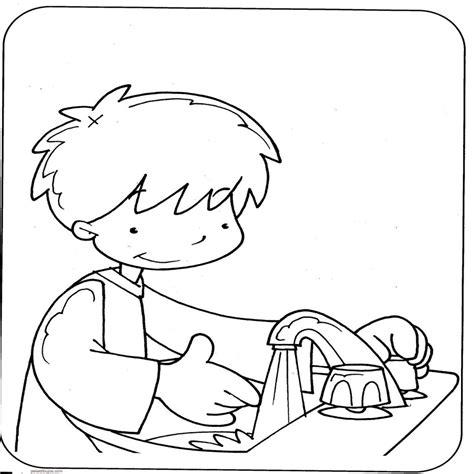 imagenes para colorear higiene personal dibujos de higiene personal para colorear
