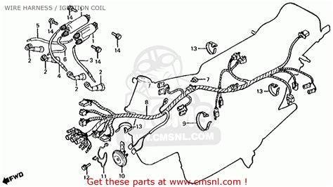 cb650 wiring diagram honda cb650 1981 b usa wire harness ignition coil schematic partsfiche