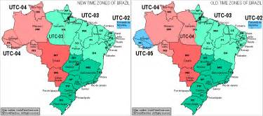 Brazil Time Zone Map by New Brazil Time Zones Map And Old Brazil Time Zones Map