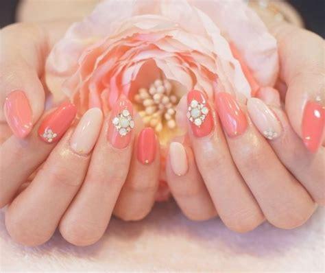imagenes de uñas acrilicas color salmon lindas imagenes de u 241 as acrilicas color coral
