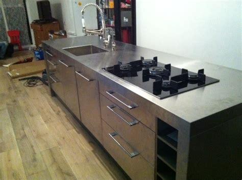 roestvrijstalen keuken rvs keuken keukenblad achterwand op maat