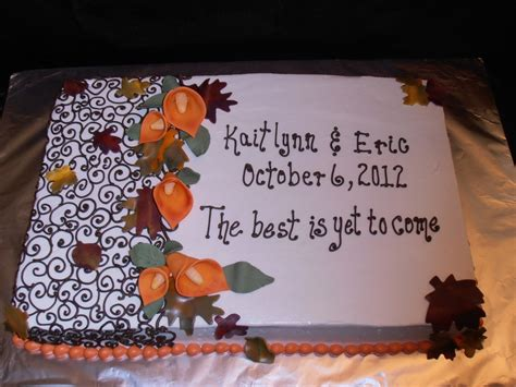 fall bridal shower cake pictures autumn calla lilies cakecentral