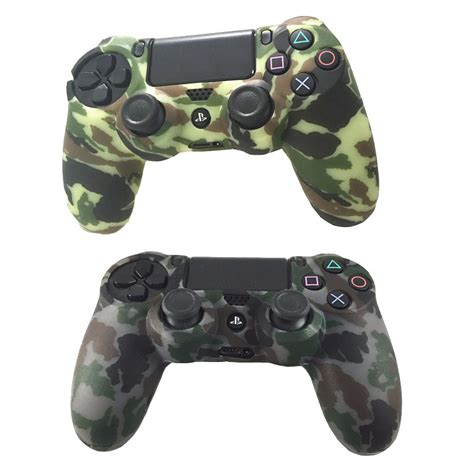 Skin Playstation 4 Ps4 Camo Camouflage 01 durable camouflage camo silicone gel rubber soft sleeve skin grip cover for playstation 4