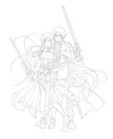 Online Drawing Lineart Sword Art Online By Rurutia8 On Deviantart