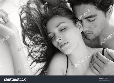 how to be sexually romantic in the bedroom black and white portrait of a young attractive romantic