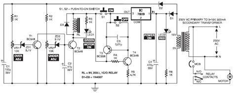 electronic motor starter circuit schematic