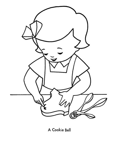 coloring pages christmas cookies christmas bell coloring page az coloring pages