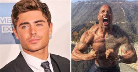 zac efron training zac efron s been training with the rock now he s crazy