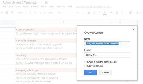Adwords Audit Template Karooya Ads Audit Template