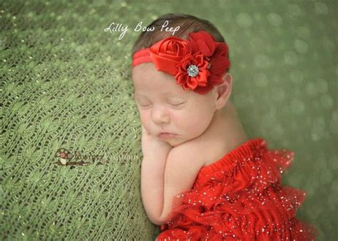 Headbandbaby headbandred flower by lillybowpeep on etsy 8 95