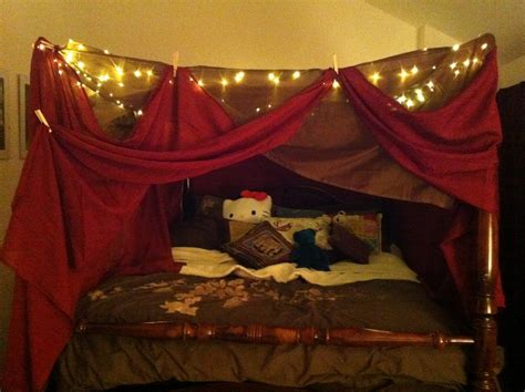 lights around bed on call rn christmas 2011