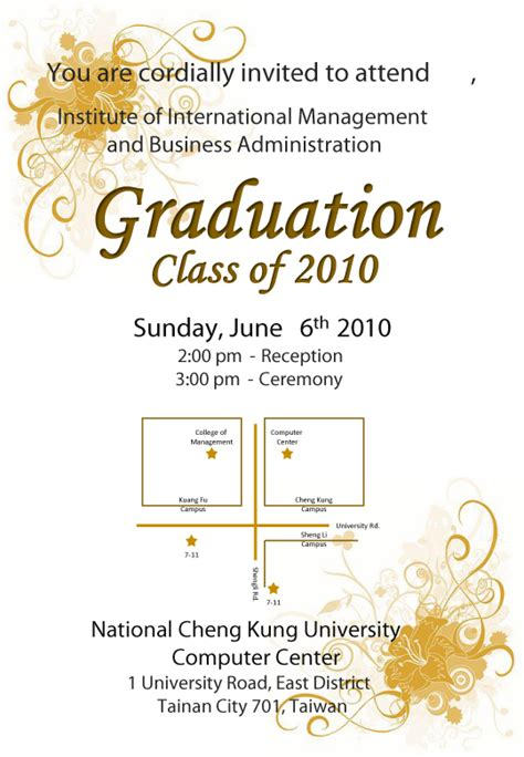 Graduation Ceremony Invitation Template invite advisor to graduation ceremony invitations ideas