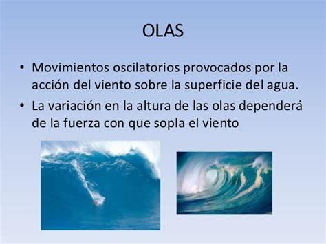 olas oscilacion y traslacion movimiento de las aguas oceanicas