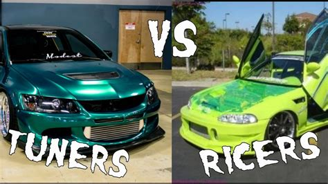ricer car key differences between a ricer tuner burnouts speed