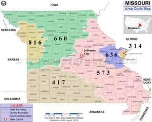Telephone area code map