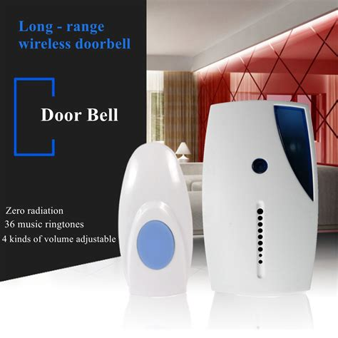 Bell Wireless 36 tune chimes songs waterproof led wireless doorbell