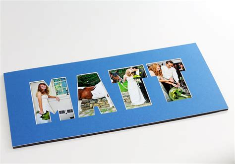 Personalized Photo Mat name word photo mat personalized custom cut matting