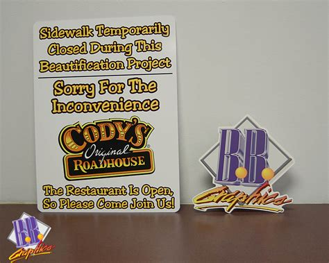 codys road house cody s road house sidewalk signs bb graphics the wrap pros
