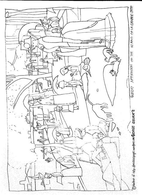 antoni gaudi colouring book seurat s sunday afternoon on the island art appreciation colorante p 225 ginas para colorear y