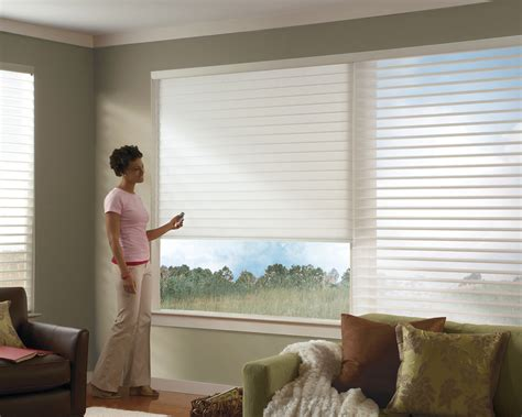 remote window coverings motorized livingroom window treatments new york shades