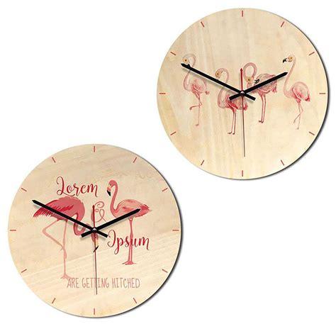 2018 modern digital table desktop alarm clock nightlight flamingo wooden wall clock home