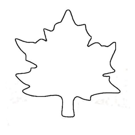 printable traceable leaves blank leaf template clipart best