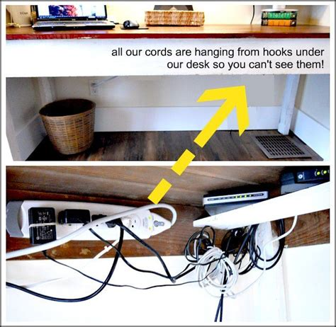 Hide Computer Cables On Desk by 25 Best Ideas About Hide Computer Cords On