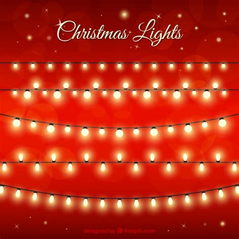 christmas lights vector free download