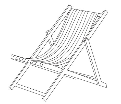 deck chair template easy drawings of deck chairs sketch coloring page