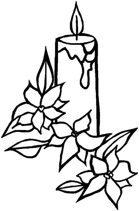 christmas candle images az coloring pages
