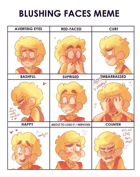 Blushing Meme - blushing faces meme by batlover800 on deviantart