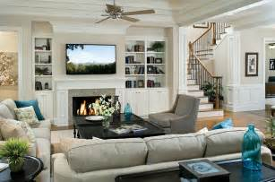 Living Room Layout With Fireplace And Tv On Opposite Walls Tv Above Fireplace Design Ideas