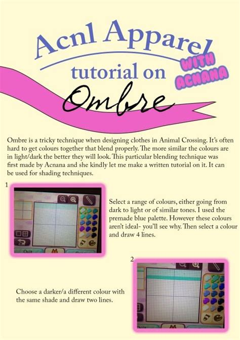 acnl ombre qr acnl ombre tutorial animal crossing stuffs v