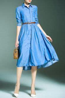 cun denim blue embroidery drawstring pocket denim dress moda 10 feminismo vetement travail