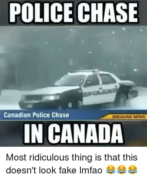Funny Canadian Memes - 25 best memes about police chase police chase memes