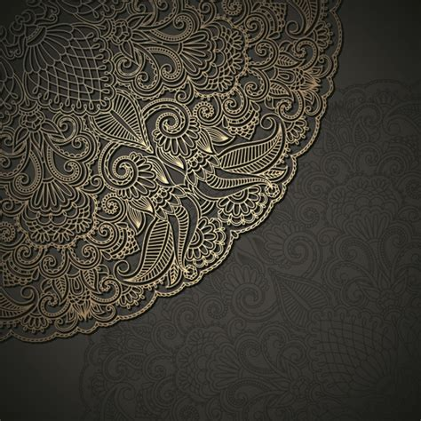 unique pattern vector lace decorative pattern vector background free vector in