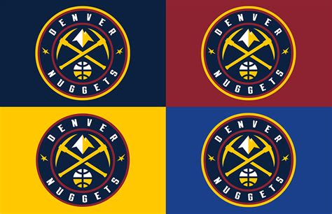 denver nuggets colors brand new new logos for denver nuggets