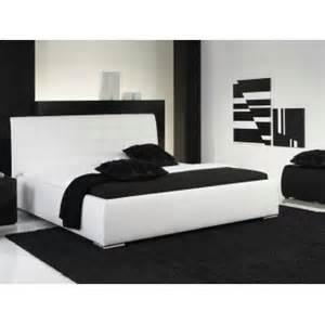 lit design blanc avec tete de lit matelassee gabriel